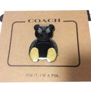 "Coach ""Fuzz"" teddy bear pin"
